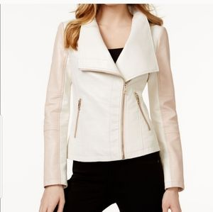 TAKE 50% OFF GUESS  MOTO FAUX LEATHER JACKET